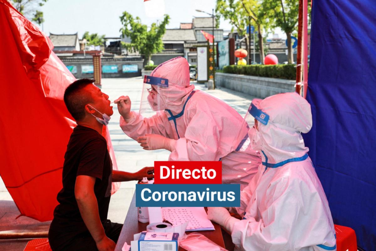 Test de coronavirus en Huaian, en la provincia oriental china de Jiangsu.