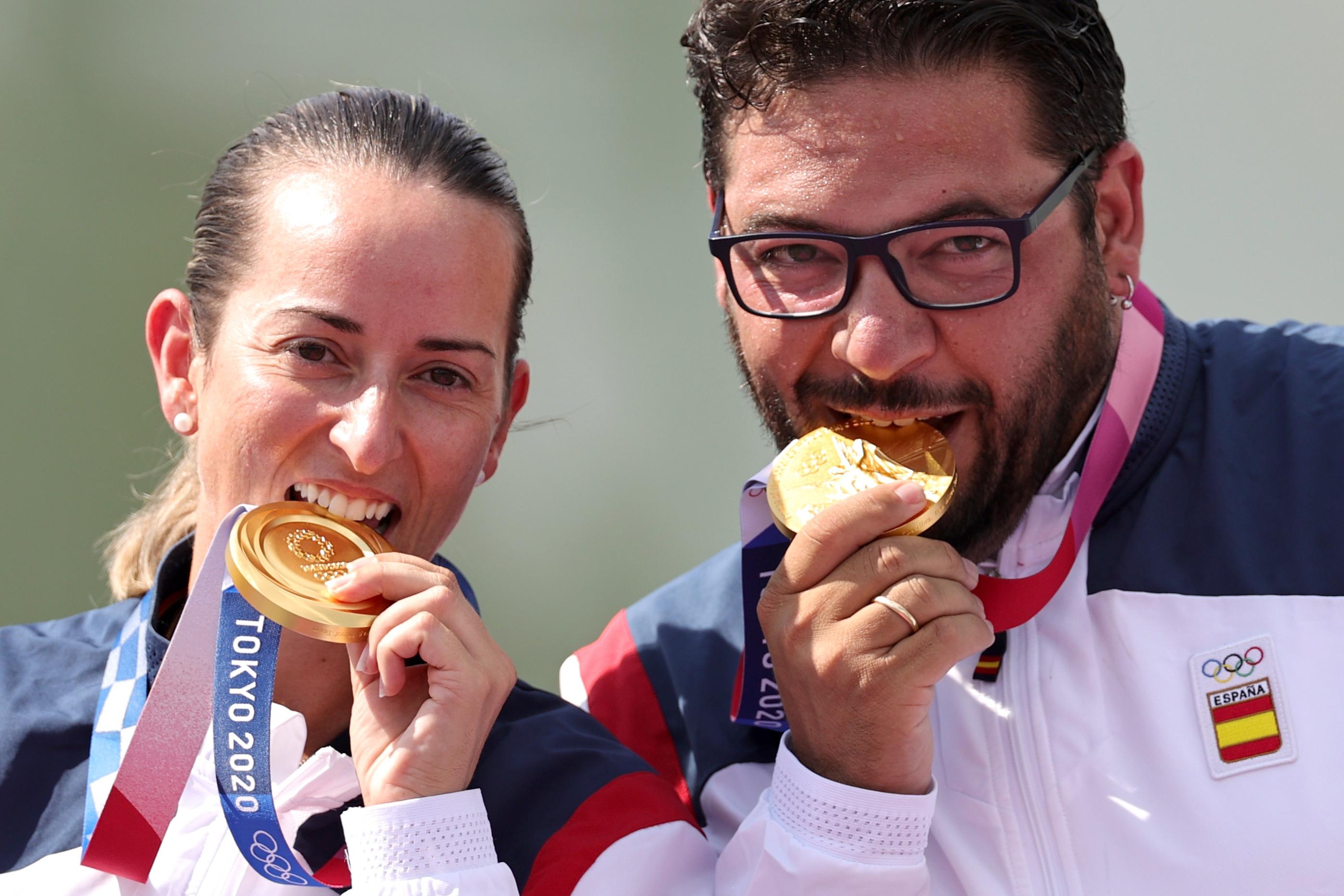 Fátima Galvez - Alberto fernandez - tiro olÍmpico - jjoo 2020 - juegos olimpicos