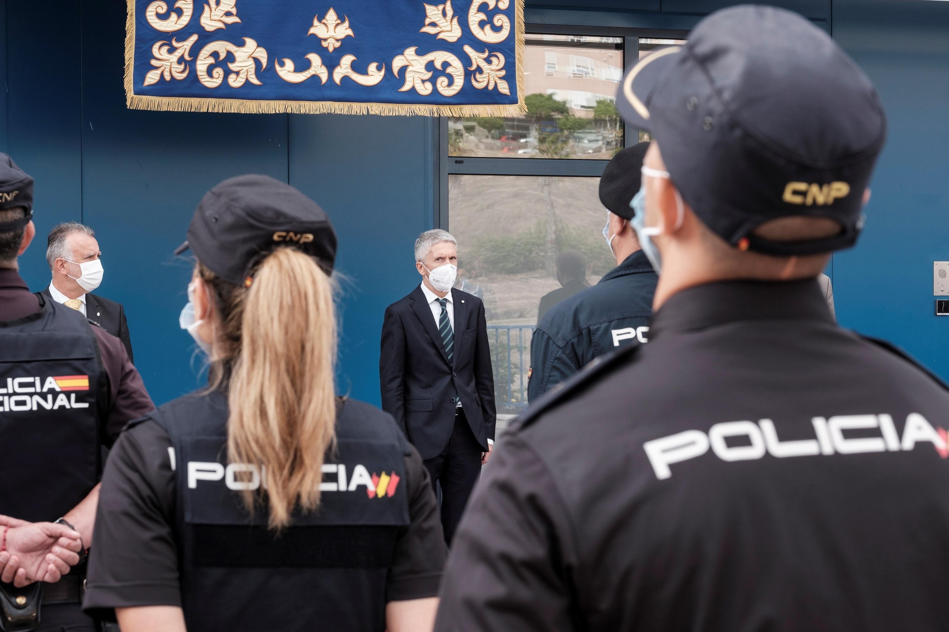 El ministro de Interior, Fernando Grande- Marlaska, en un acto con la Policia en Las Palmas