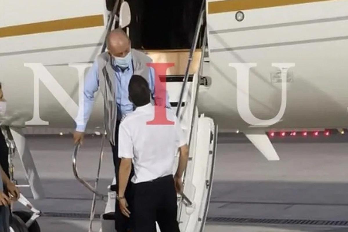 El Rey emérito, a su llegada a Emiratos, en agosto de 2020.