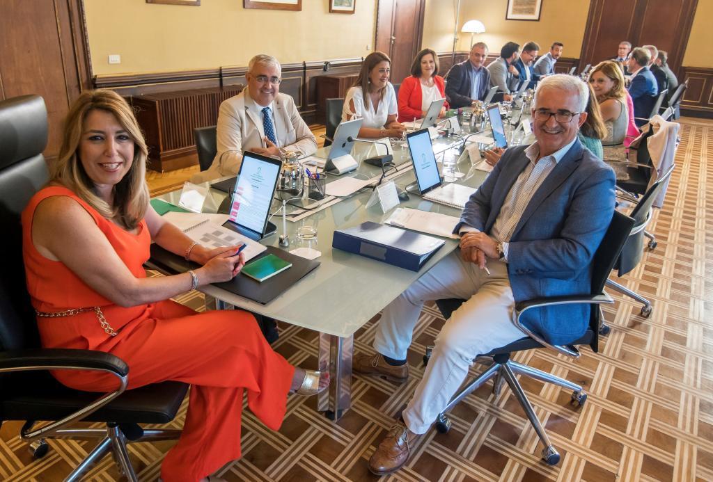 Díaz preside el Consejo de Gobierno en agosto de 2018.