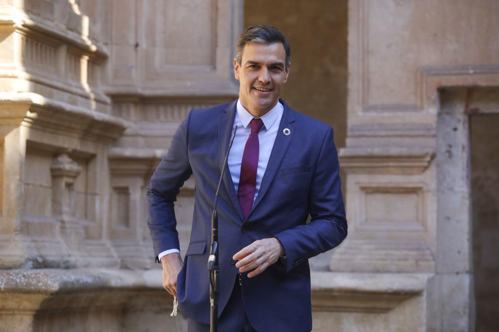 Pedro Sánchez, durante la Conferencia de Presidentes celebrada en Salamanca.