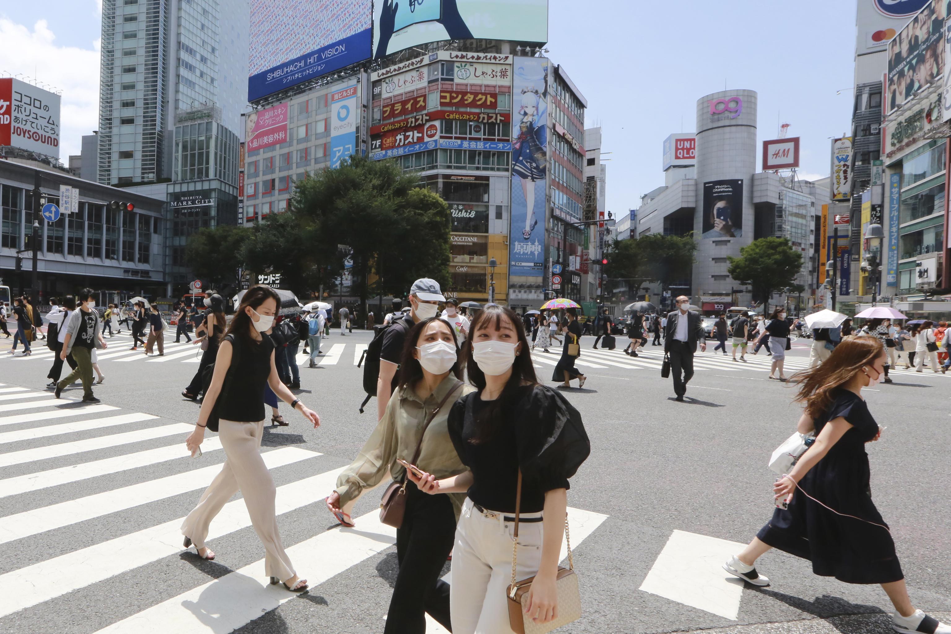 Un día normal en el barrio de Shibuya, Tokio.