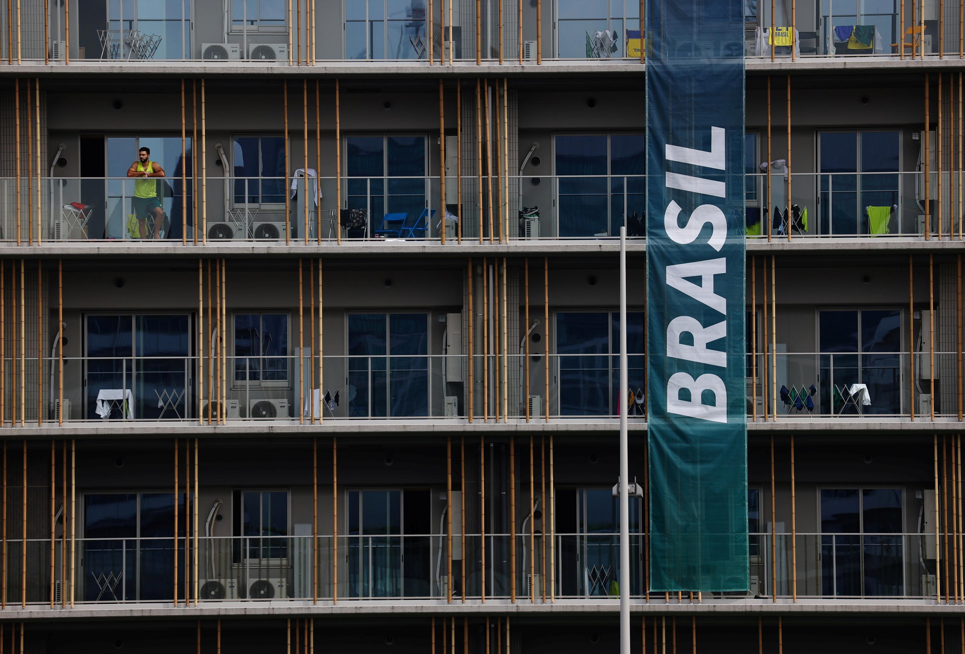 El edificio de la delegación brasileña en la Villa Olímpica.