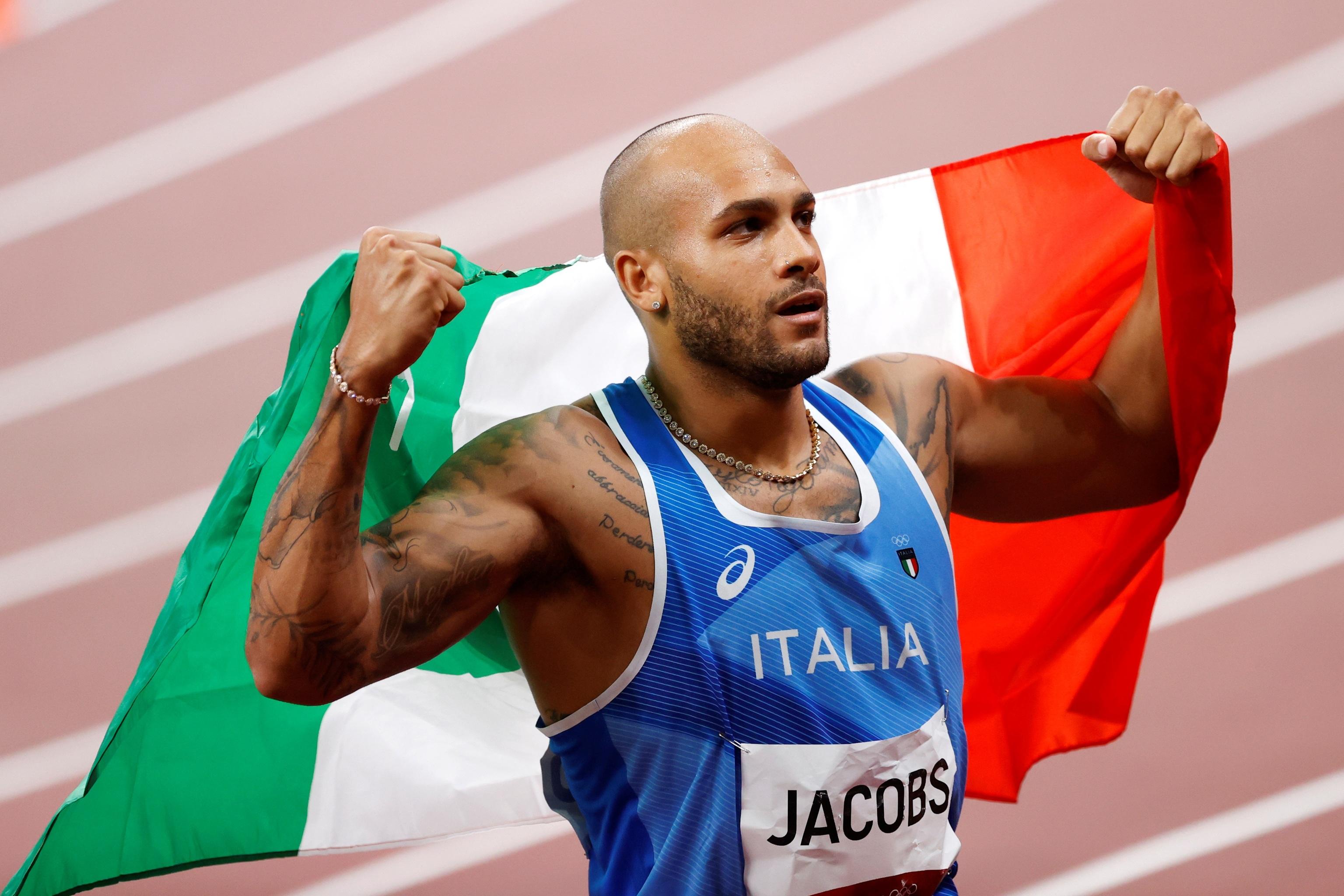 Jacobs exhibe poderío tras ganar la primera medalla en los 100 m. para Italia.