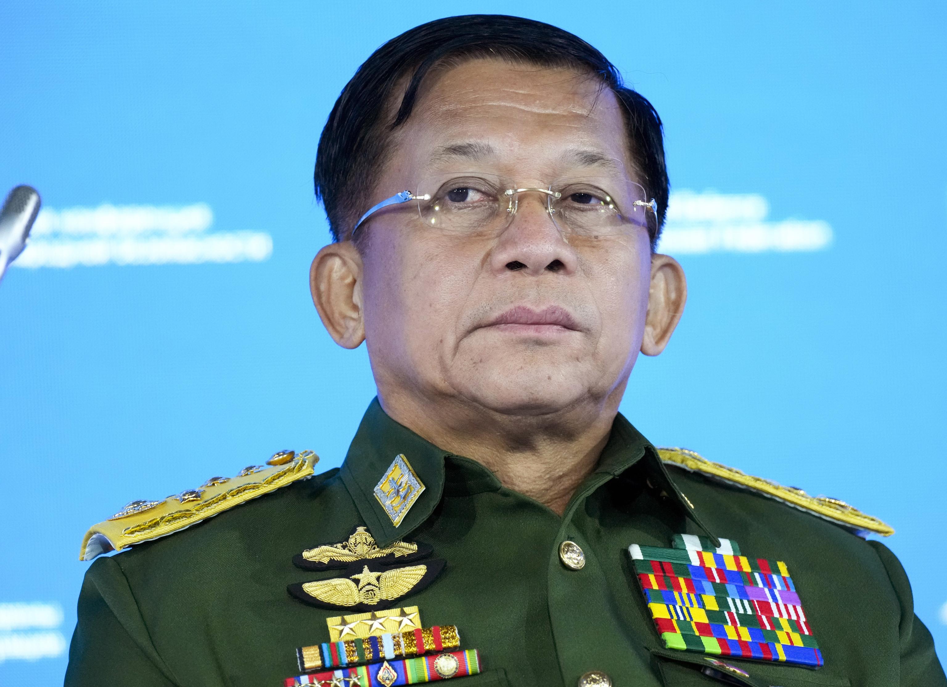 El líder de la junta militar birmana, Min Aung Hlaing.