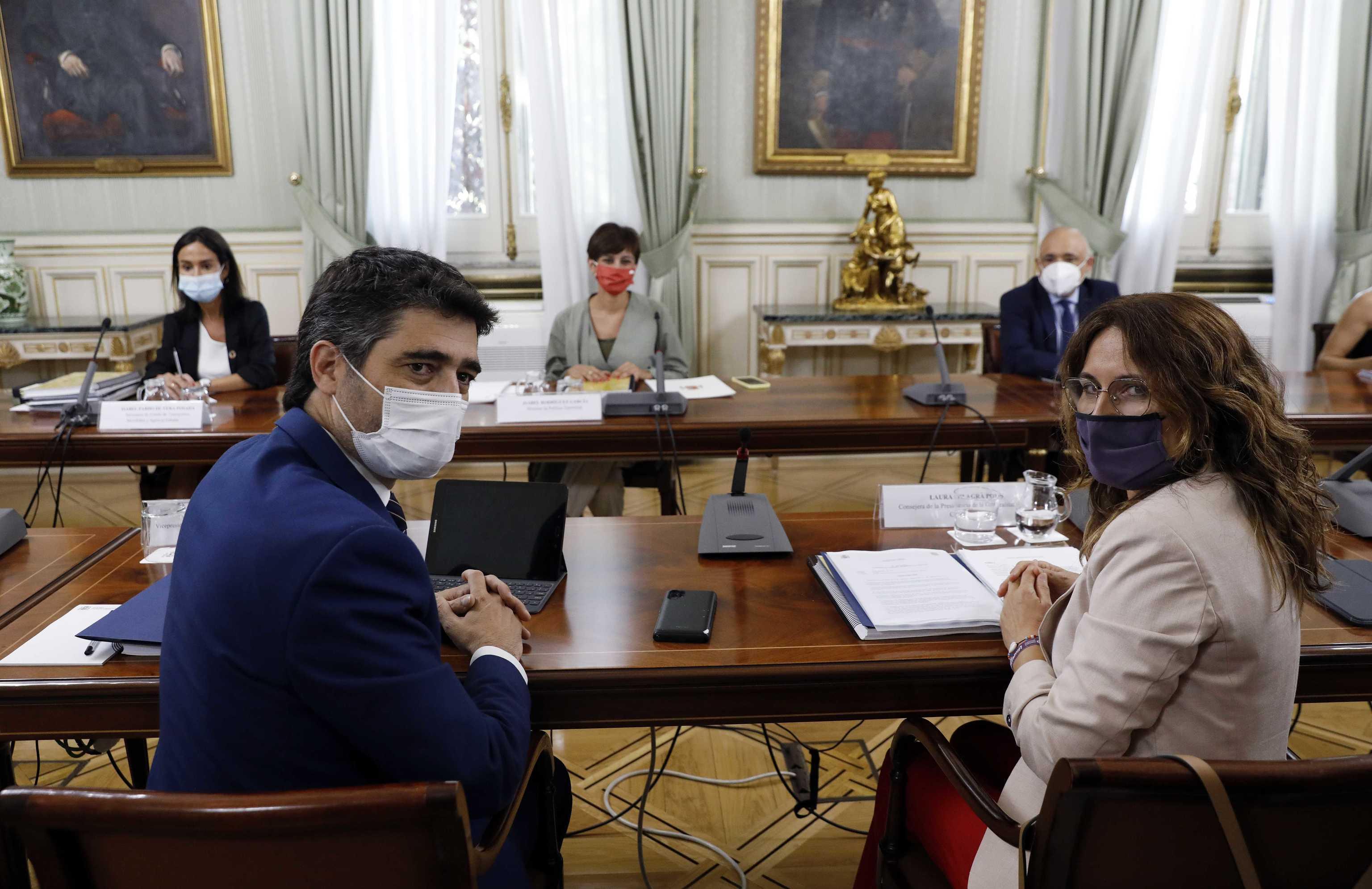 Jordi Puigneró, Isabel Rodríguez y Laura Vilagrá.