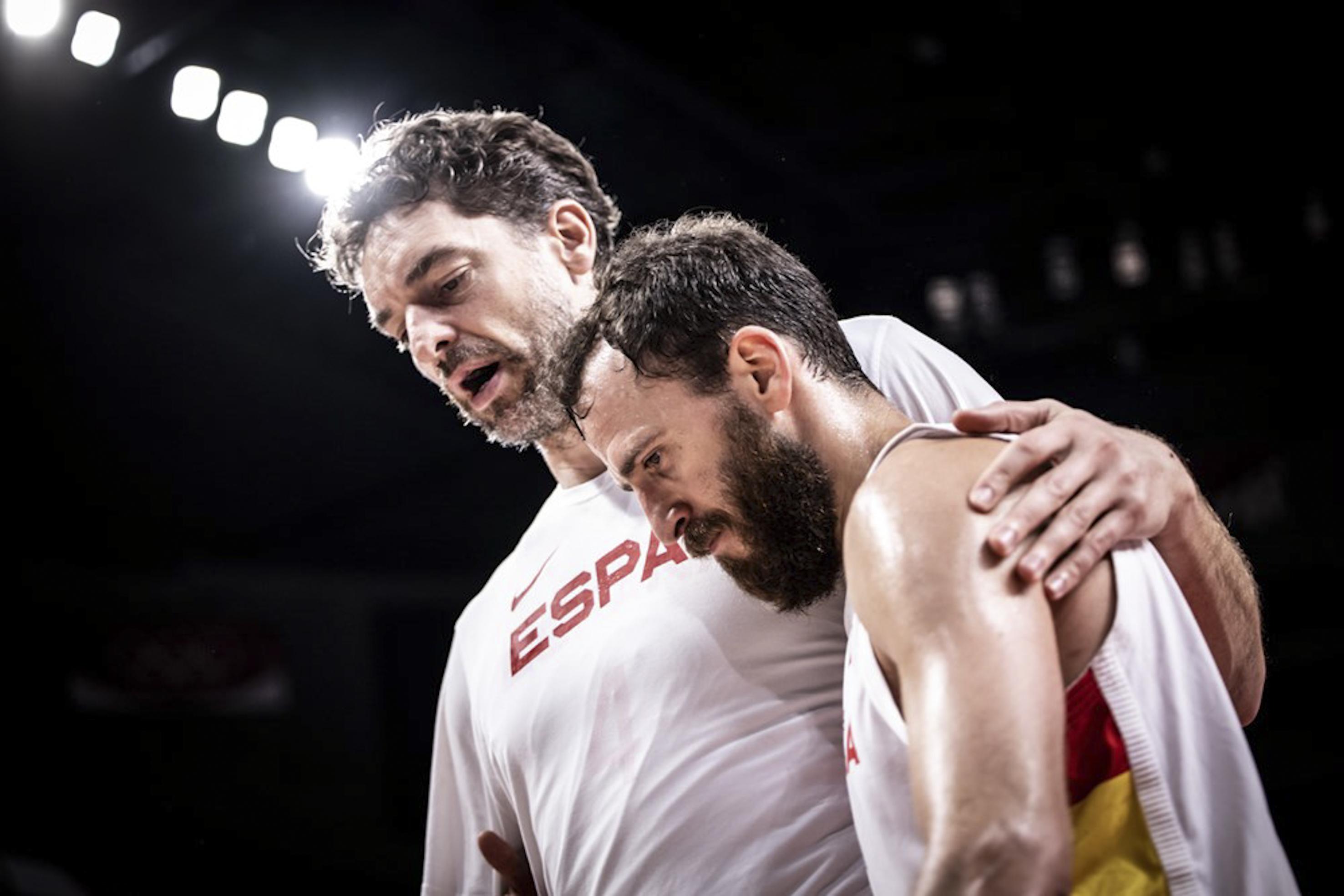 Pau Gasol y Sergio Rodríguez.
