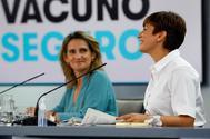 Teresa Ribera e Isabel Rodríguez, en la rueda de prensa posterior al Consejo de Ministros.