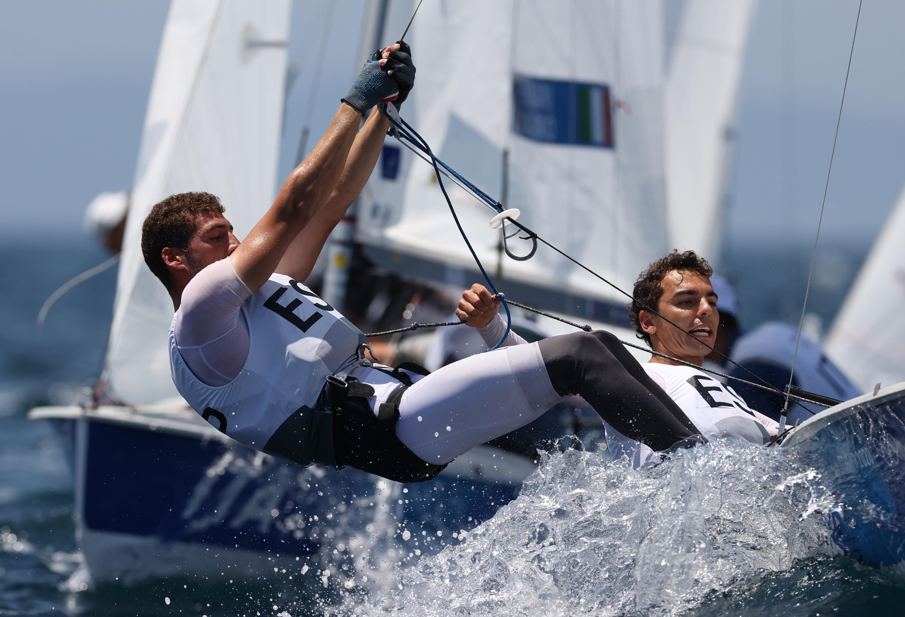 Jordi Xammar y Nicolas Rodriguez, durante una de las regatas