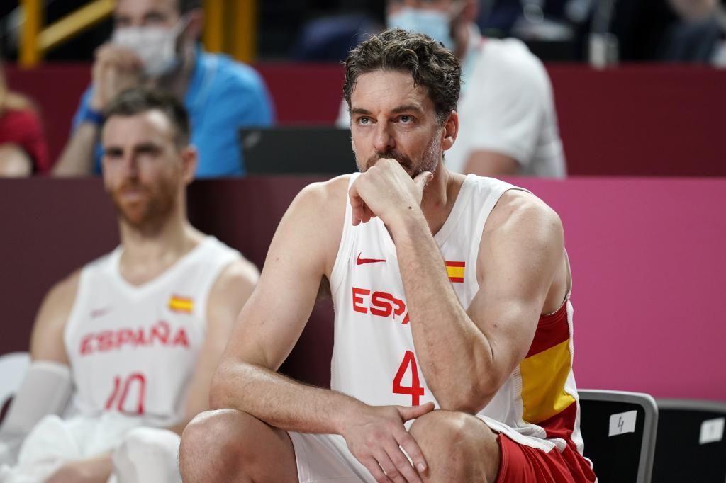 Pau Gasol, en un partido de la selección española de baloncesto en los Juegos Olímpicos de Tokio 2020.