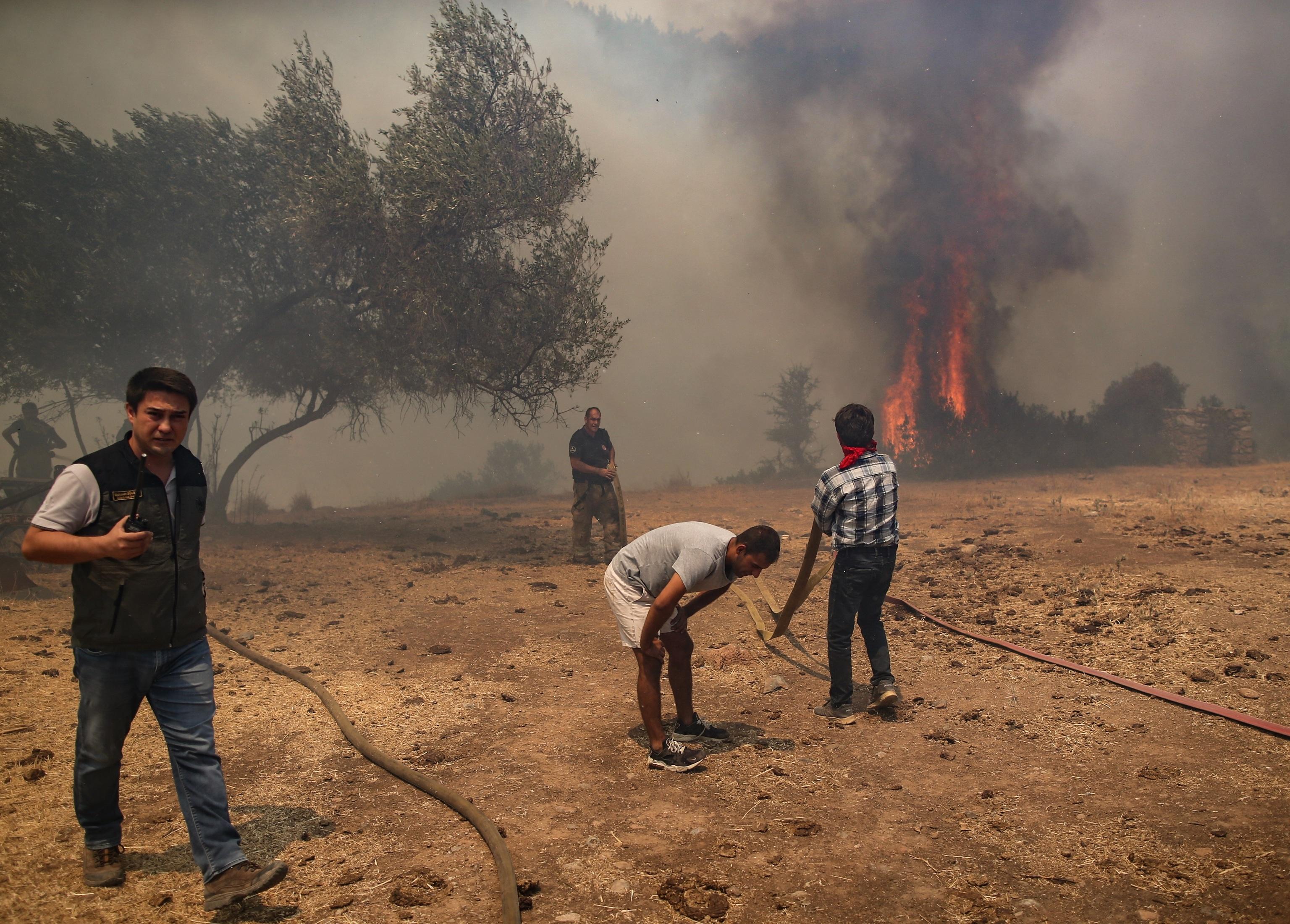 El fuego invade Mugla, Turquía.