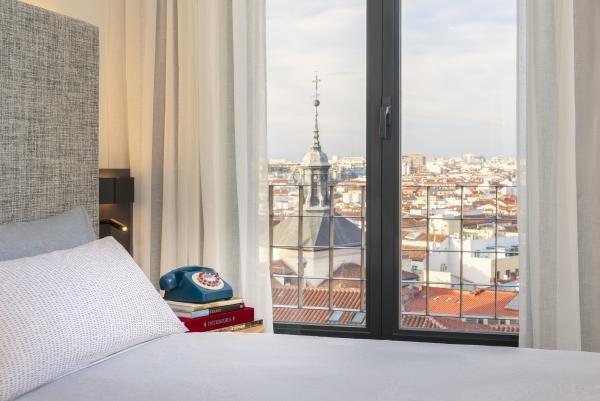 Una de las habitaciones en el centro de Madrid.