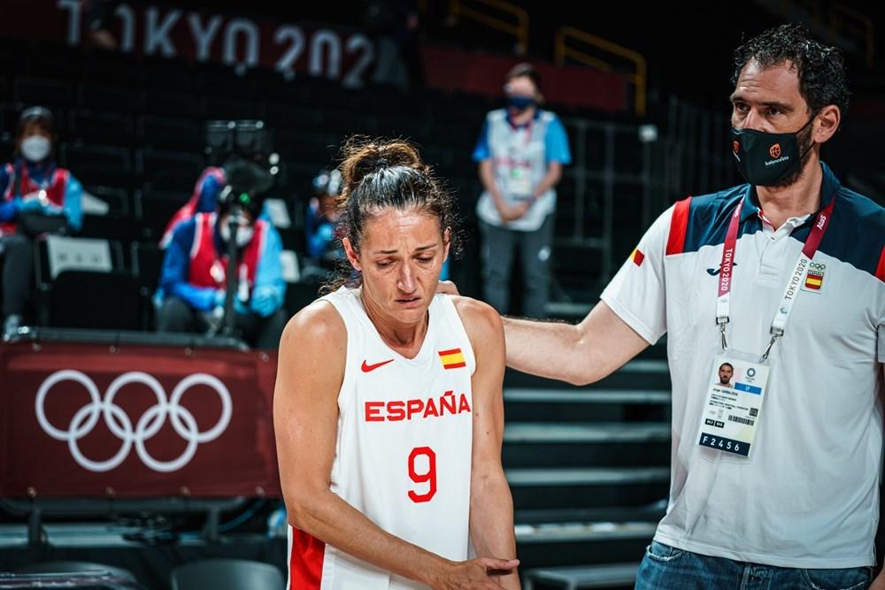 Laia Palau, emocionada tras el partido.