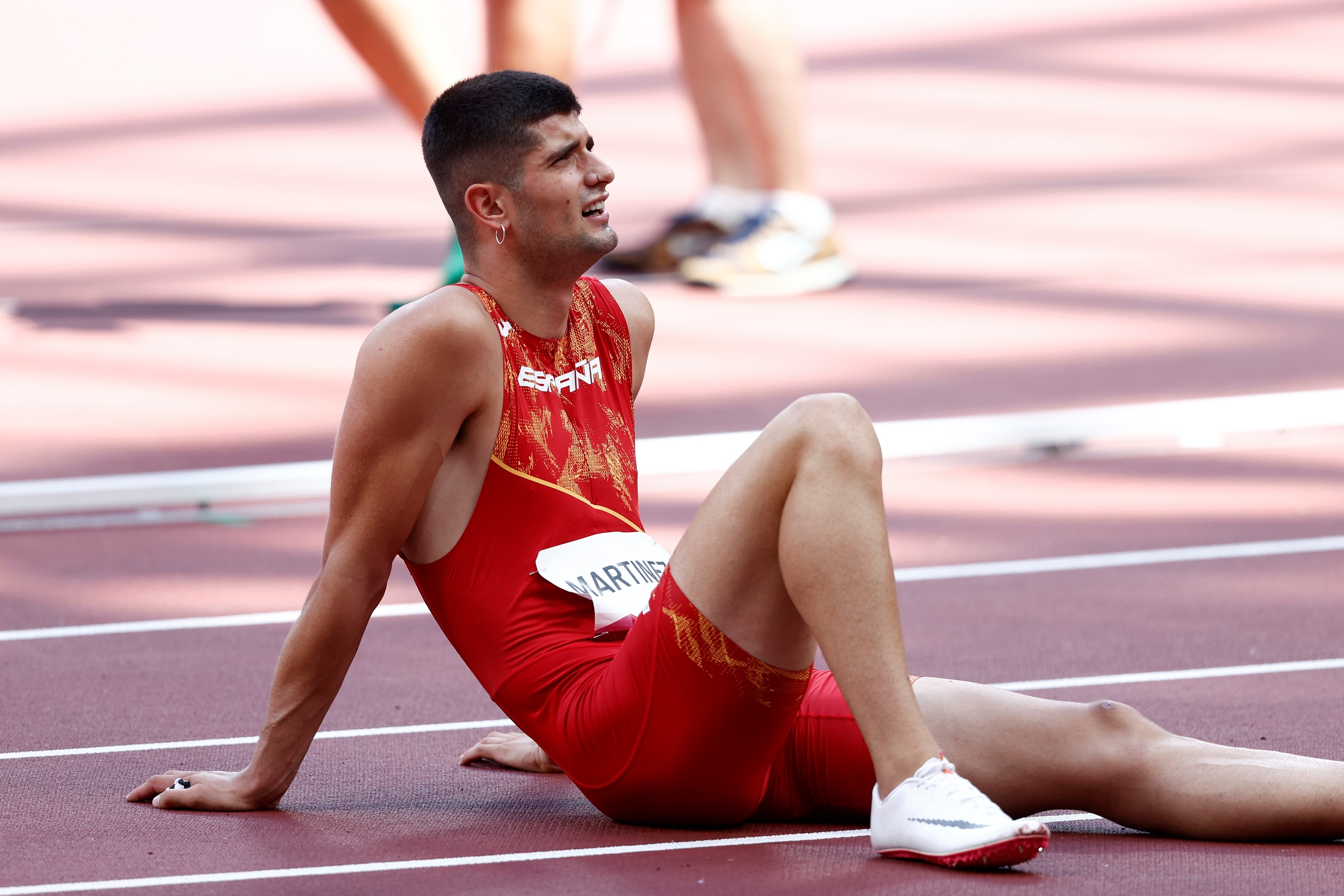 Asier Martínez, tras la final.
