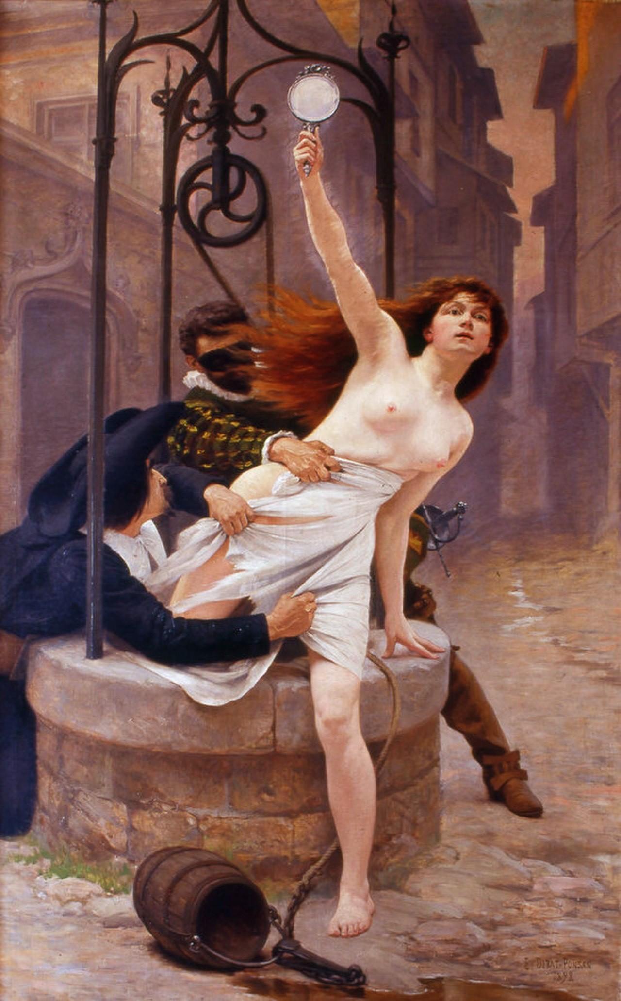 La vérité sortant du puits, por Édouard Debat-Ponsan (1898)