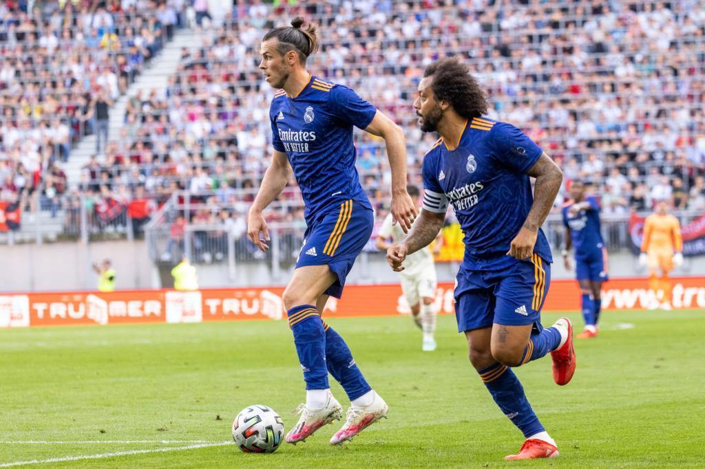 Gareth Bale y Marcelo durante el partido contra el Milan.
