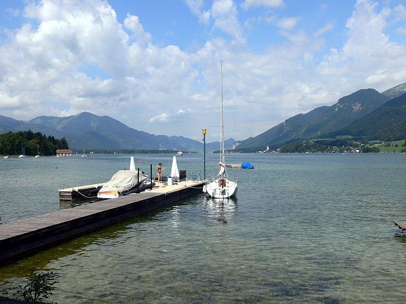 El turísitico lago Wolfgang, en Austria.