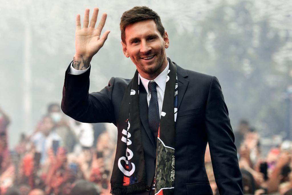 Messi, en su presentación con el PSG