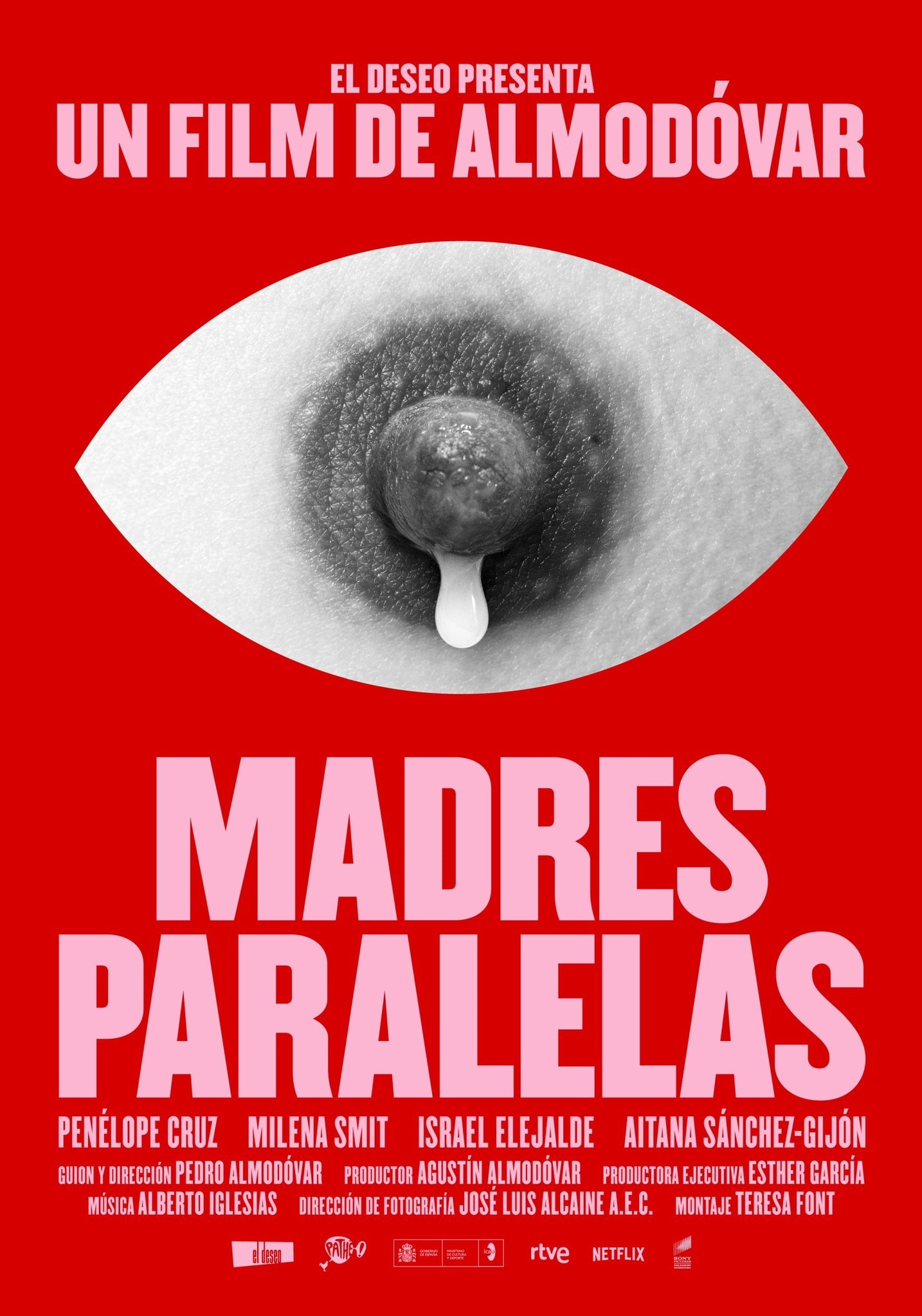 Cartel de la película 'Madres paralelas', de Pedro Almodóvar.