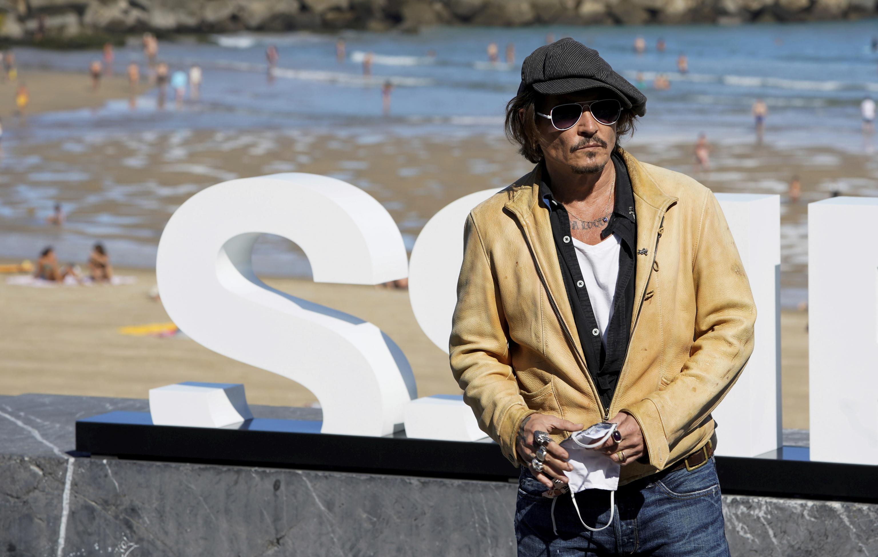 El actor Johnny Depp en la pasada edición del Festival de San Sebastián.
