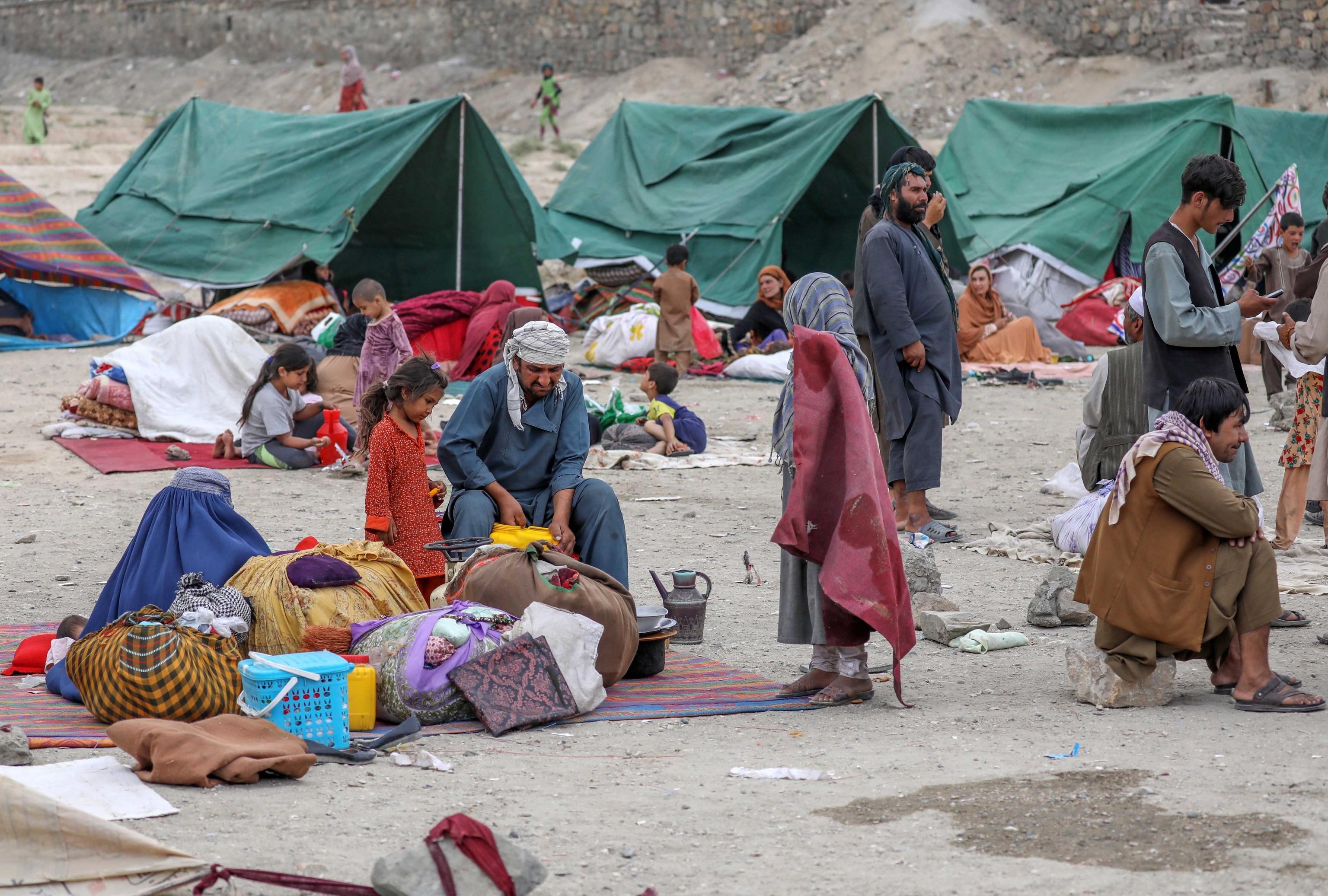 اردوگاه پناهندگان در کابل ، افغانستان