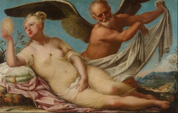 El Dios del Tiempo desvela la Verdad, por Pietro Liberi, Il Libertino (1605-1687)