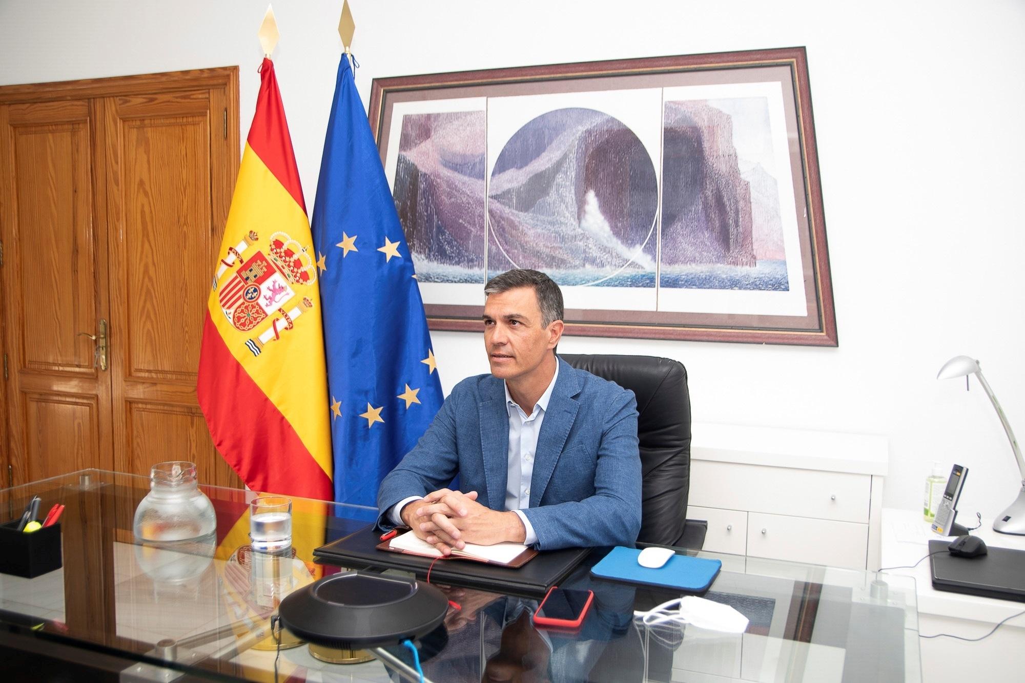 Pedro Sánchez, este jueves, desde Lanzarote.