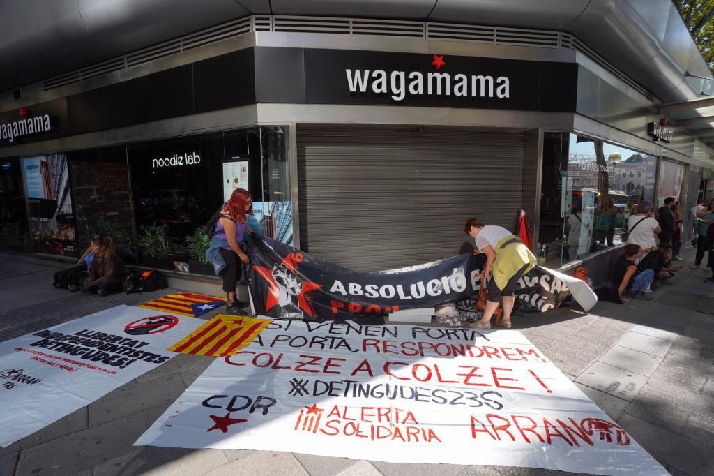 Protestas frente a la Audiencia Nacional por la detencion de los CDR acusados de terrorismo
