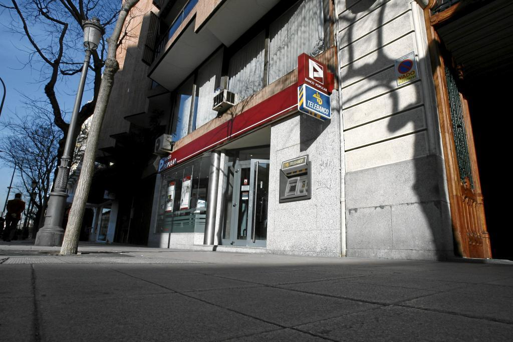 Imagen de la sucursal de un banco en el centro de Madrid