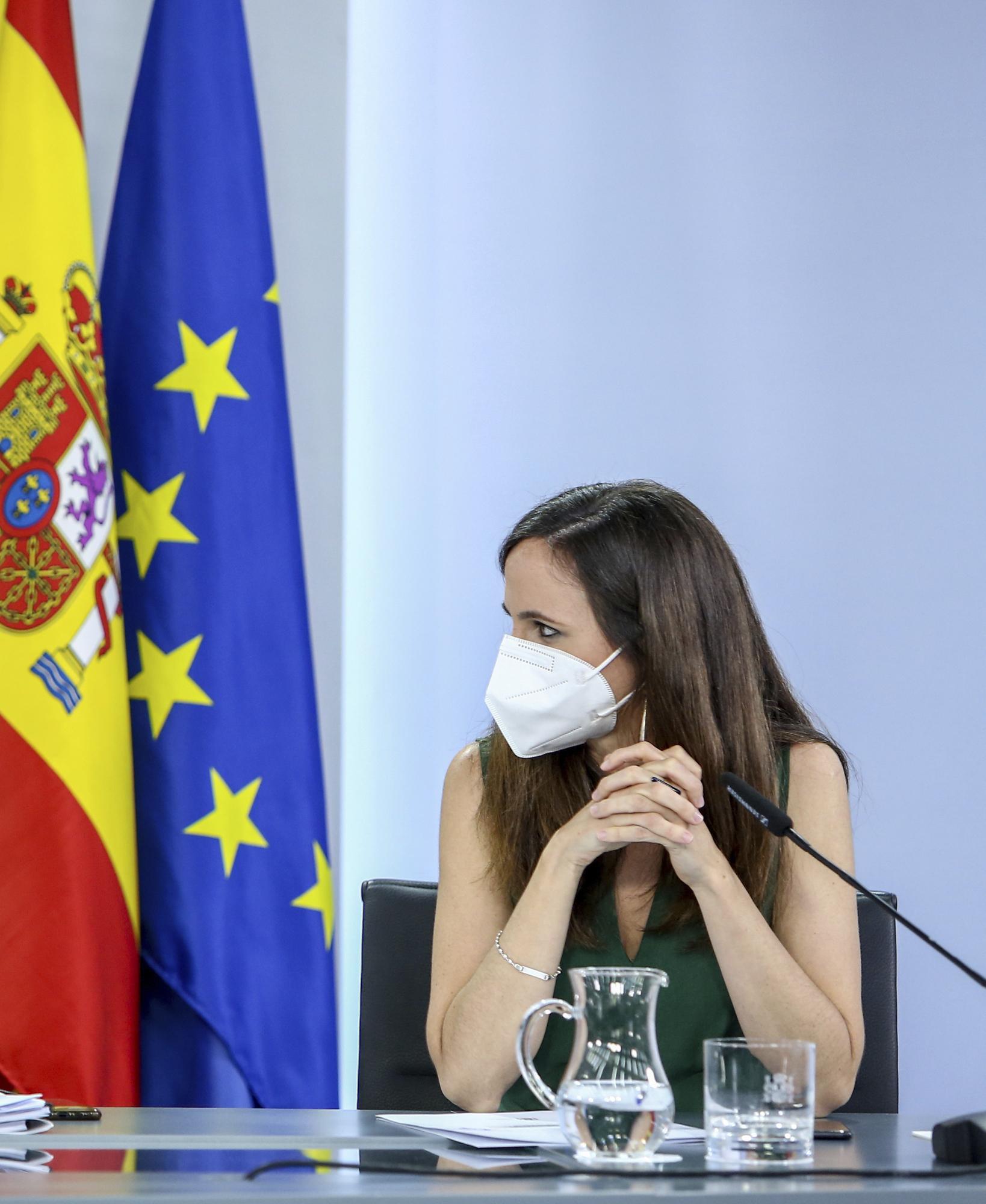 La ministra Ione Belarra, durante una comparecencia tras un Consejo de Ministros.