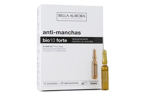 Retinol, vitamina C, astaxantina, glicólico... Todo lo que la piel pide a gritos después de las vacaciones: Bio 10 Forte Intensivo de Bella Aurora