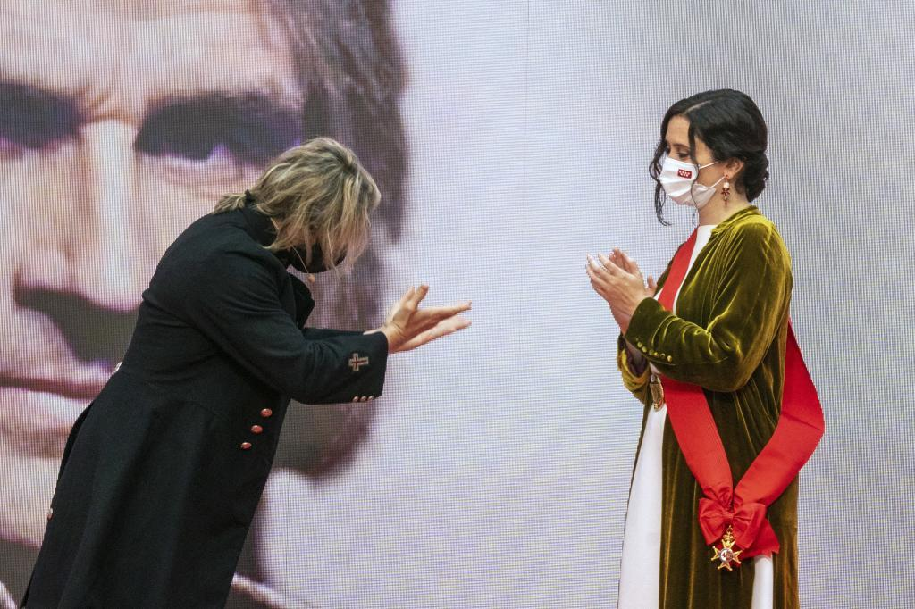 Nacho Cano e Isabel Díaz Ayuso.