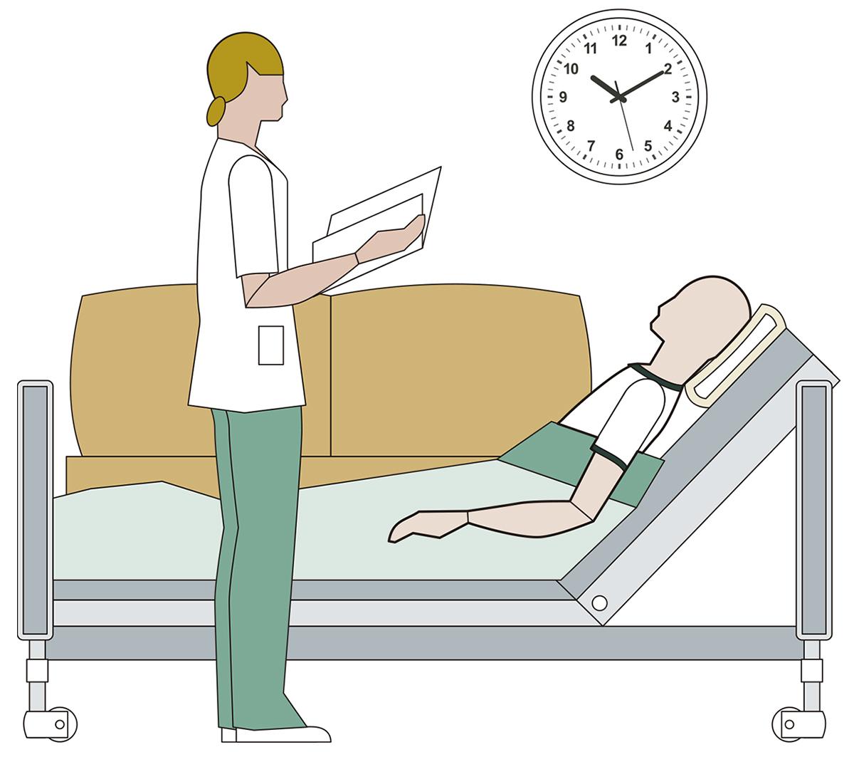 Preparación: el paciente debe enfriarse rápidamente una vez se le haya declarado muerto