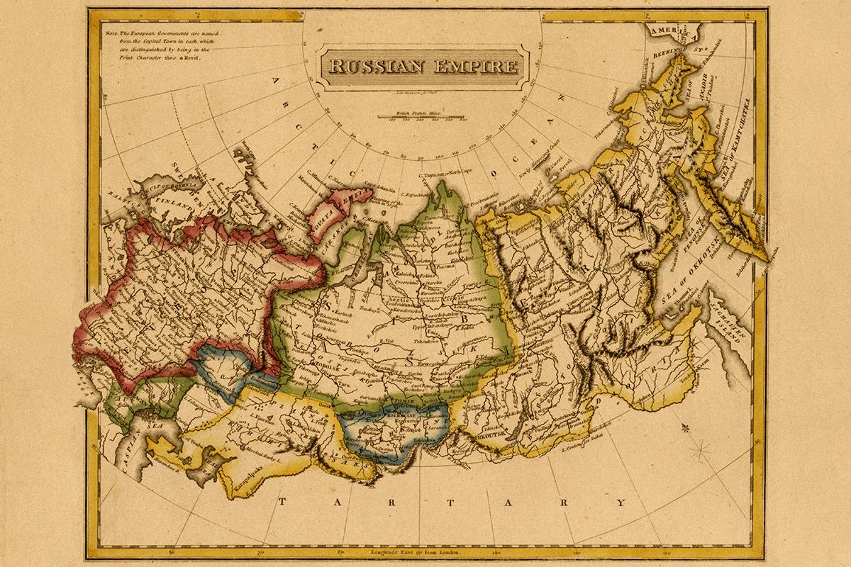 El Imperio Ruso, en 1817.