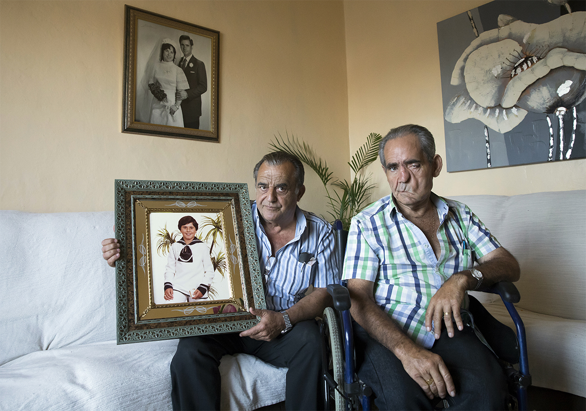 Juan García y Pedro Gómez, tíos de Juan Pedro Martínez Gómez, conocido como 'el niño de Somosierra'.