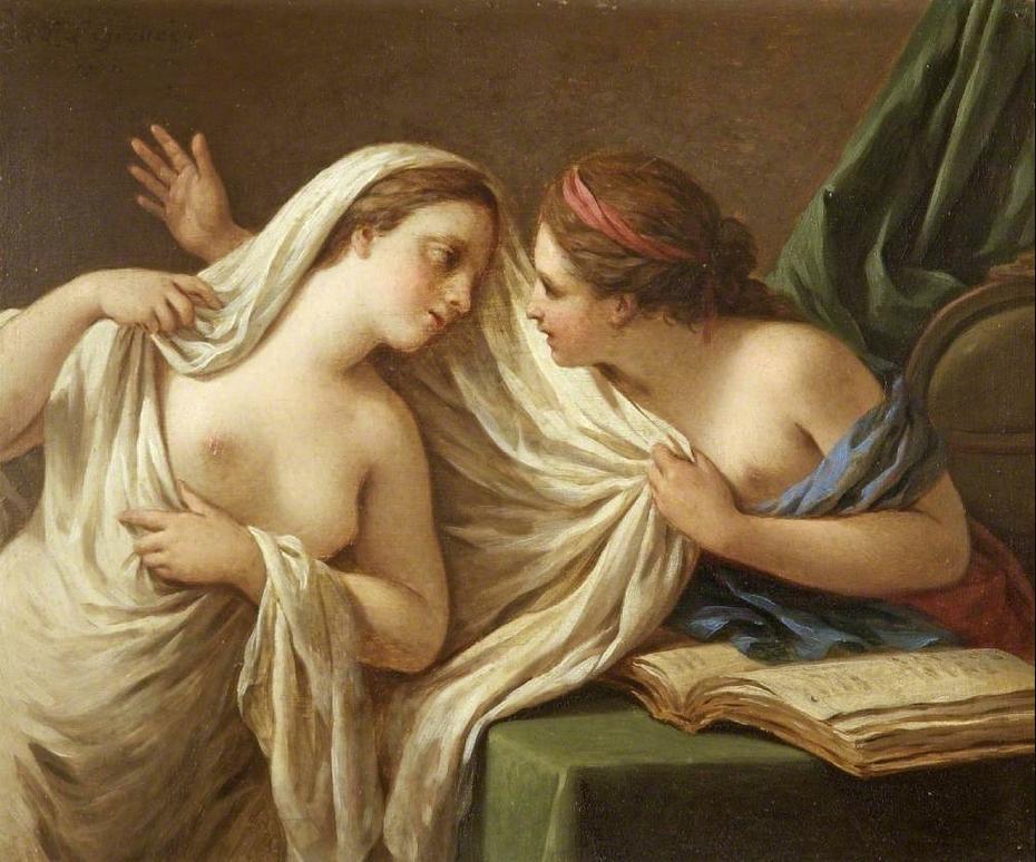 La Filosofía desvelando a la Verdad, por Louis Jean François Lagrenée (1725-1805)