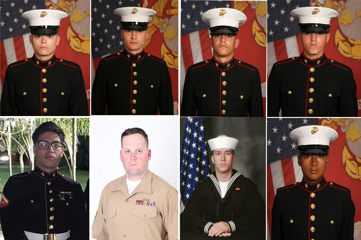 Ocho de los militares de EEUU fallecidos el jueves en Kabul.