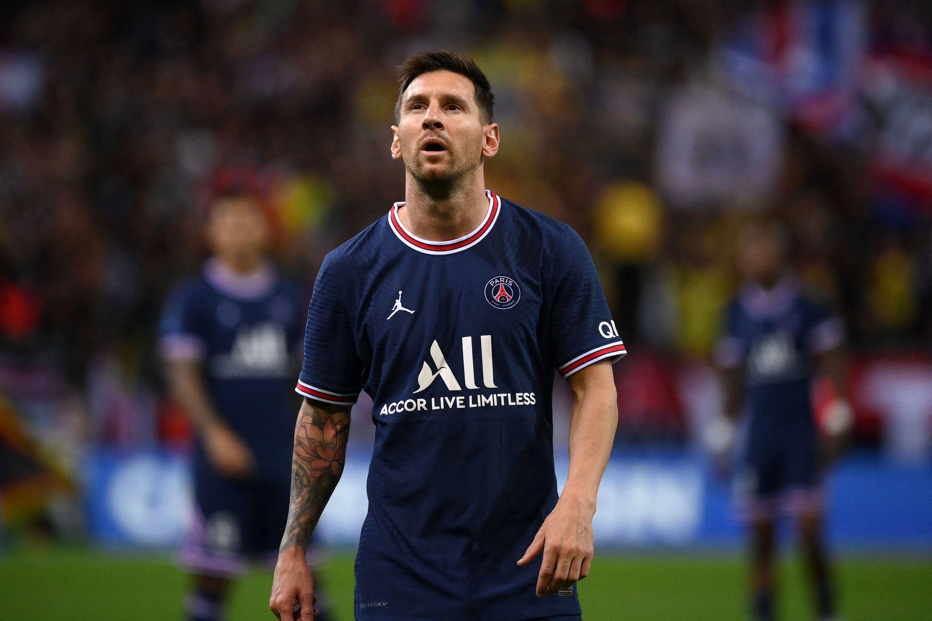 Leo Messi, en su debut con el PSG.