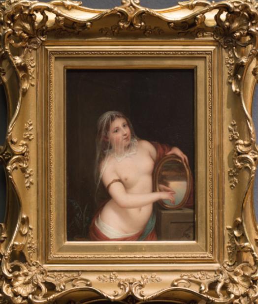La Verdad sostiene un espejo, por Henry Peters Gray (1859)
