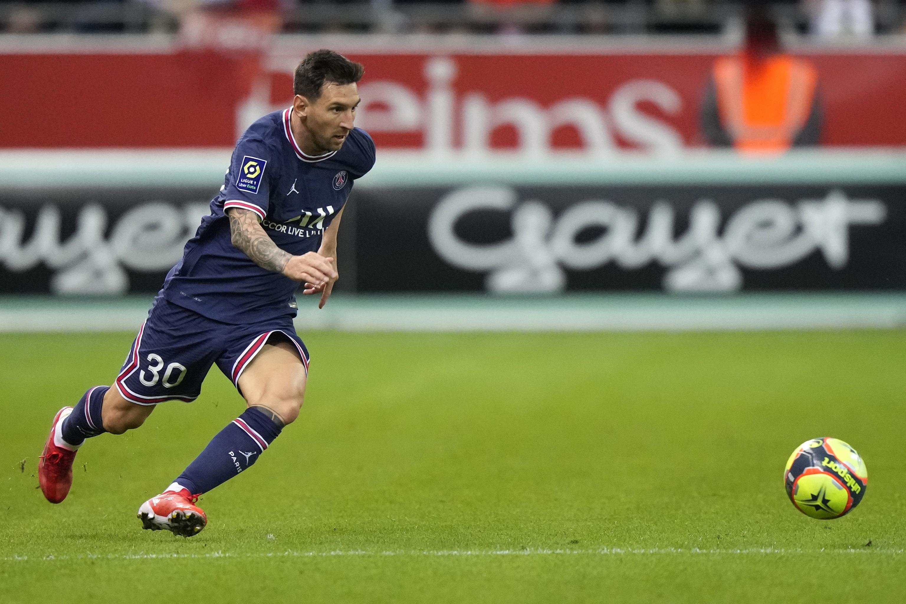 Messi, en su debut con el PSG.