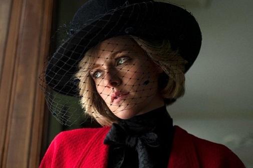 Kristen Stewart caracterizada como Lady Di en 'Spencer'.