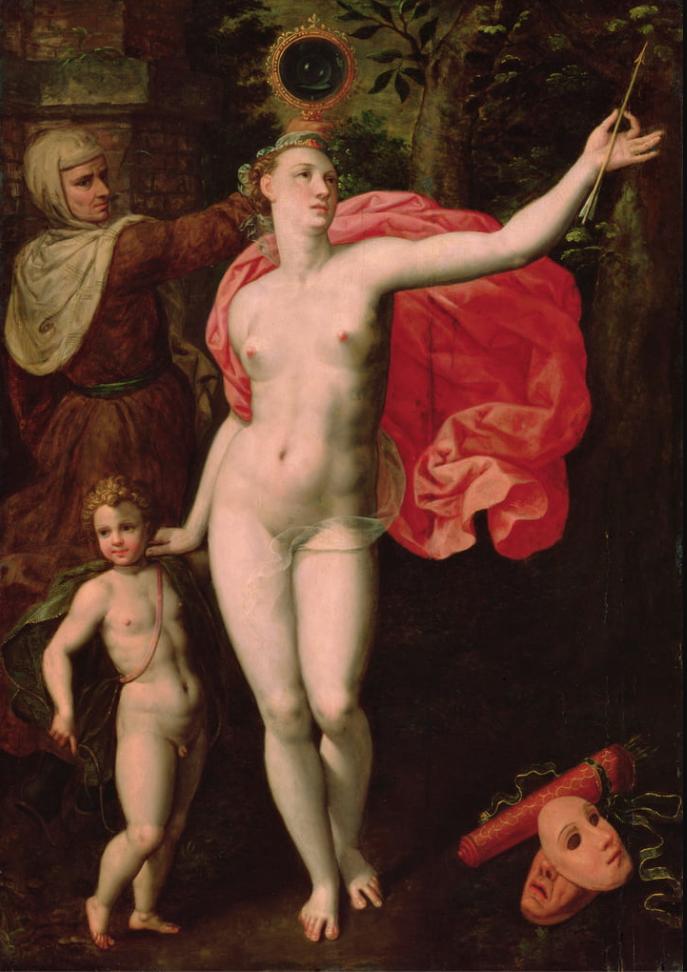 Venus y Cupido, alegoría de la Verdad, por Jacques de Backer (1555-1585)