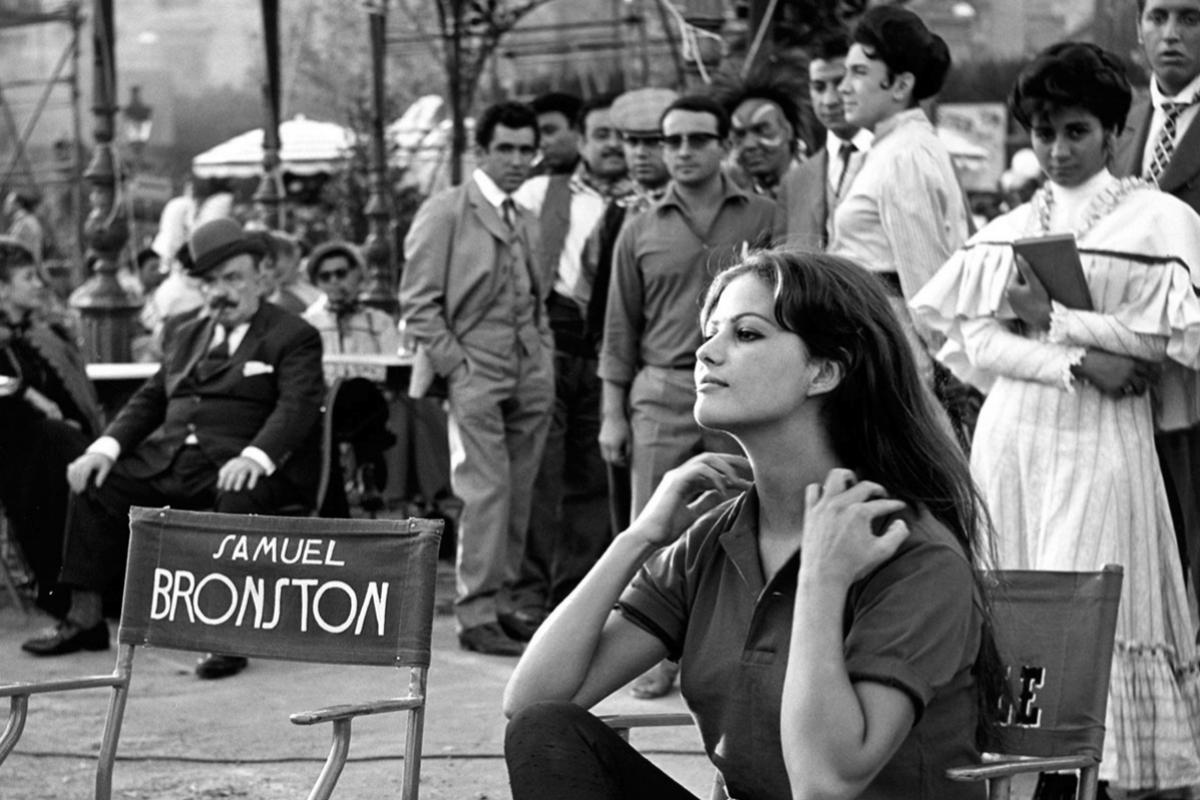 Claudia Cardinale, durante el rodaje de 'El fabuloso mundo del circo'.