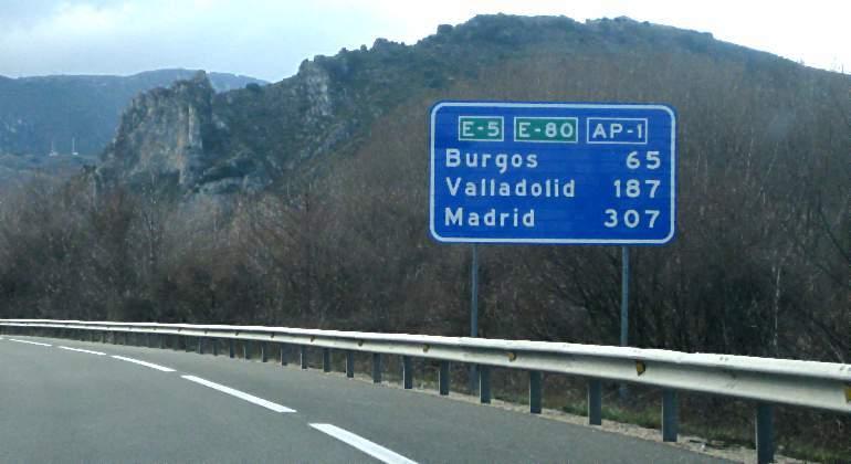La AP-1, entre Burgos y Armiñon, fue la primera autopista en hacerse gratuita en 2018