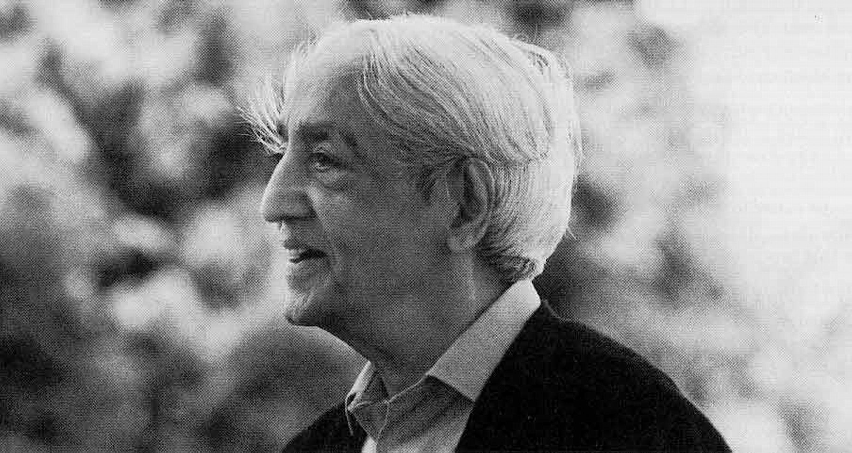 El filósofo Jiddu Krishnamurti.