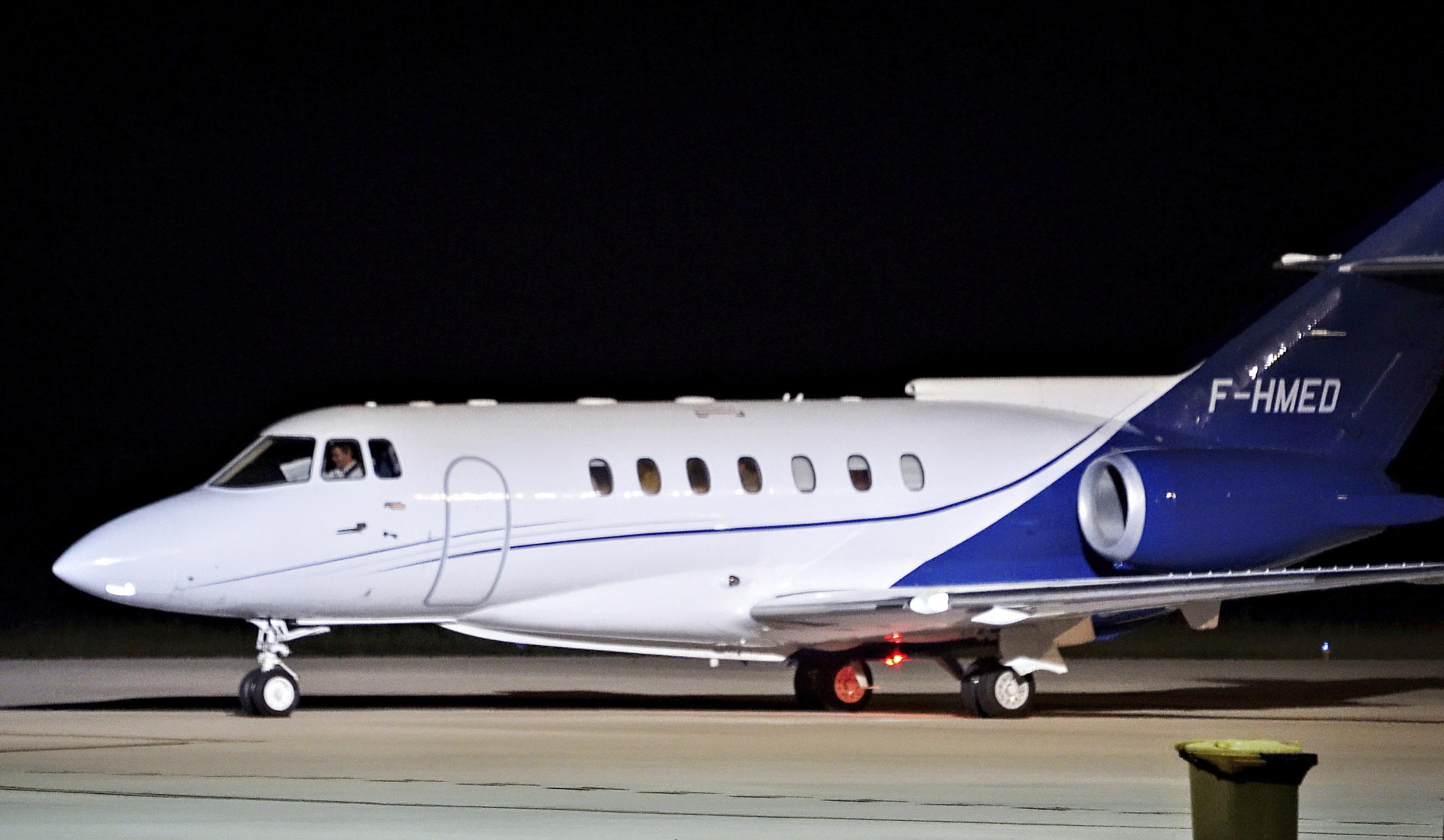 El avión en el que Brahim Ghali abandonó España.