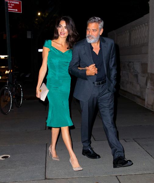 Amal (35) y George Clooney (52), casi 20 años de diferencia, ella a la baja.