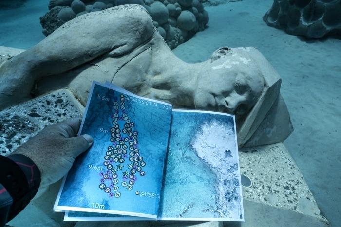 El mapa de las esculturas.