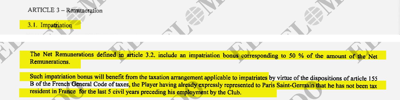 El contrato recoge los beneficios fiscales por su condición de impatriado.